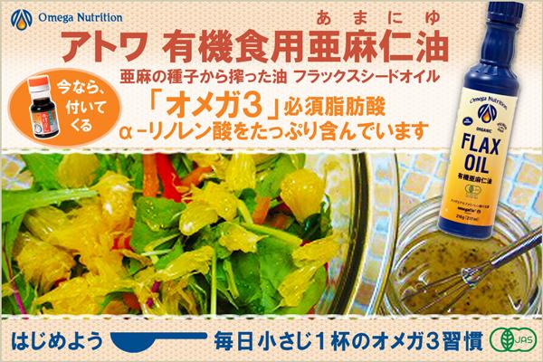 亜麻仁油で毎日小さじ1杯のオメガ3習慣
