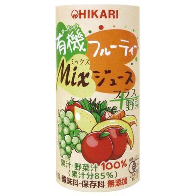 有機フルーティ-Mixジュース プラス野菜 195g