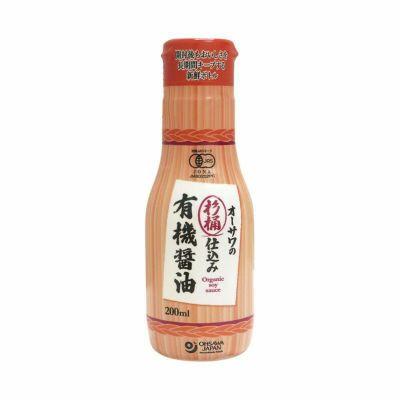 オーサワの杉桶仕込み有機醤油(新鮮ボトル)200ml