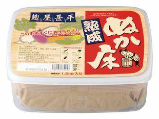 麹屋甚平(こうじやじんべい) 熟成ぬか床(容器付) 1.2kg マルアイ食品